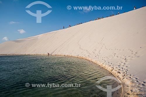 Lagoa da Preguiça no Parque Nacional dos Lençóis Maranhenses  - Barreirinhas - Maranhão (MA) - Brasil