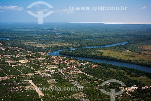 Foto aérea do Rio Preguiças  - Barreirinhas - Maranhão (MA) - Brasil