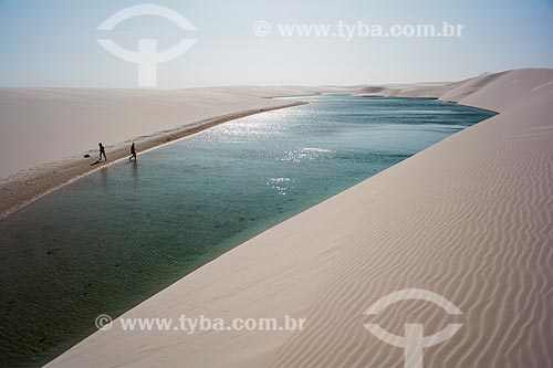 Lagoa da Testa Branca no Parque Nacional dos Lençóis Maranhenses  - Barreirinhas - Maranhão (MA) - Brasil