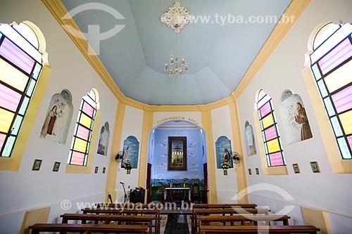 Interior da Capela de Nosso Senhor do Bonfim  - Petrópolis - Rio de Janeiro (RJ) - Brasil