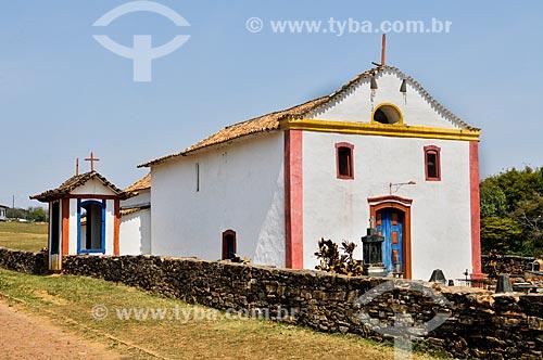Fachada da Igreja de Nossa Senhora do Desterro (1857)  - Sacramento - Minas Gerais (MG) - Brasil