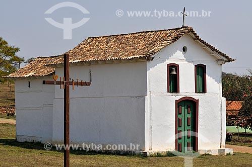 Fachada da Igreja de Nossa Senhora do Rosário (Século XVIII) - também conhecida como Igreja dos Negros  - Sacramento - Minas Gerais (MG) - Brasil