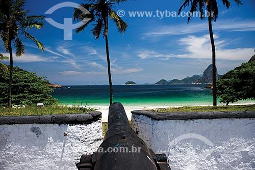 Canhão do Forte Barão do Rio Branco (1938)  - Niterói - Rio de Janeiro (RJ) - Brasil