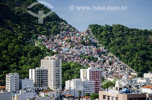 Prédios e Favela Santa Marta  - Rio de Janeiro - Rio de Janeiro (RJ) - Brasil