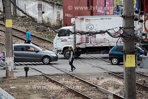 Passagem de nível na Avenida Nossa Senhora das Graças  - São João de Meriti - Rio de Janeiro (RJ) - Brasil
