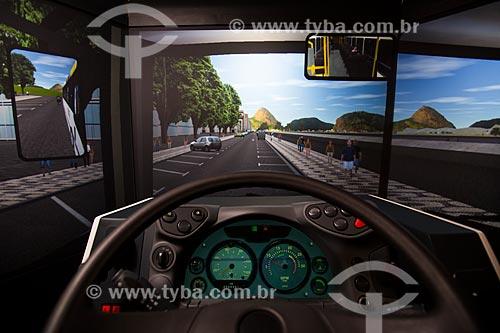 Simulador de direção de ônibus utilizado no treinamento de motoristas  - Rio de Janeiro - Rio de Janeiro (RJ) - Brasil