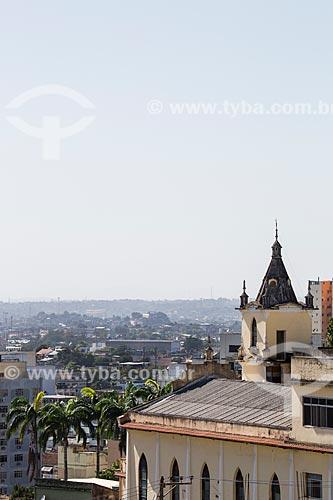 Vista da Igreja Batista Central do alto do Morro do Cruzeiro  - Nova Iguaçu - Rio de Janeiro (RJ) - Brasil