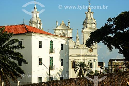 Vista da Catedral Metropolitana de Belém (1771) a partir do Forte do Castelo do Senhor Santo Cristo (1616) - também conhecido como Forte do Castelo ou Forte do Presépio  - Belém - Pará (PA) - Brasil