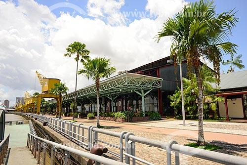 Vista do Armazém 1 (Boulevard das artes) da Estação das Docas (2000) - anteriormente parte do Porto de Belém  - Belém - Pará (PA) - Brasil
