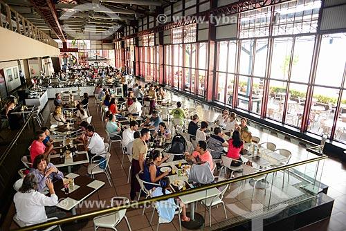 Interior de restaurante na Estação das Docas - anteriormente parte do Porto de Belém  - Belém - Pará (PA) - Brasil