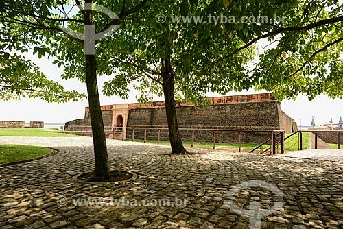 Entrada do Forte do Castelo do Senhor Santo Cristo (1616) - também conhecido como Forte do Castelo ou Forte do Presépio  - Belém - Pará (PA) - Brasil