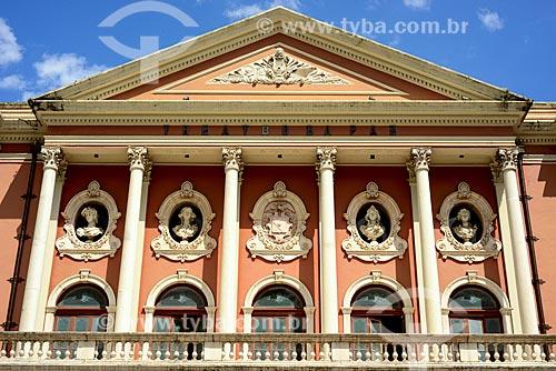 Detalhe da fachada do Theatro da Paz (1874)  - Belém - Pará (PA) - Brasil