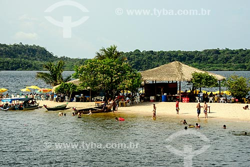 Banhistas na Praia de Alter-do-Chão  - Santarém - Pará (PA) - Brasil