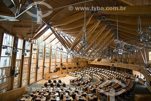 Interior do Parlamento Escocês  - Edimburgo - Edimburgo - Escócia
