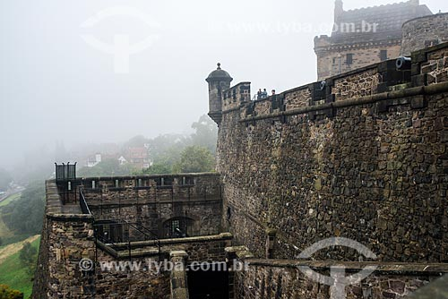 Muros do Edinburgh Castle (Castelo de Edimburgo)  - Edimburgo - Edimburgo - Escócia