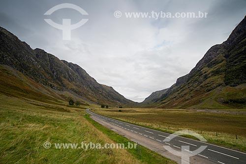 Estrada na região de Glen coe  - Lochaber - Highland - Escócia