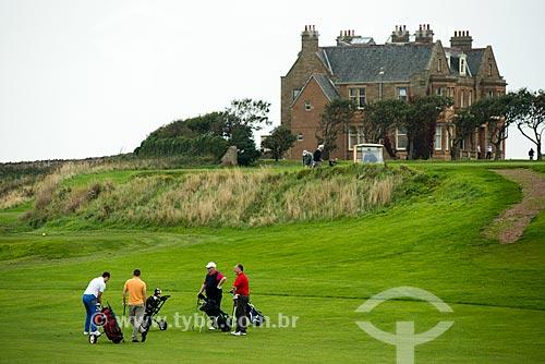 Campo de golfe na cidade de Dunbar  - Dunbar - East Lothian - Escócia