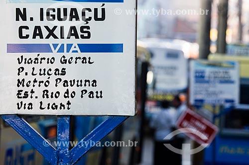 Placa informativa na rodoviária do Shopping Center de Caxias  - Duque de Caxias - Rio de Janeiro (RJ) - Brasil
