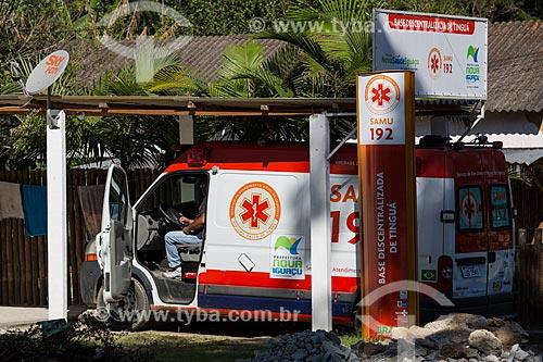 Ambulância do SAMU (Serviço de Atendimento Móvel de Urgência) - Base Descentralizada de Tinguá  - Nova Iguaçu - Rio de Janeiro (RJ) - Brasil