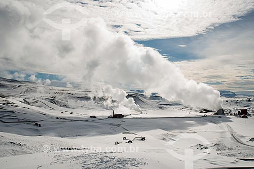 Vista da Usina Energética de Krafla (Krafla Power Station)  - Northeastern Region - Islândia