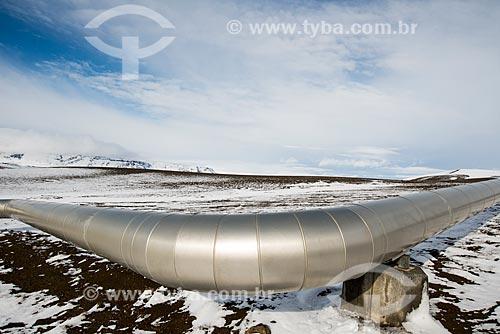Duto da Usina Energética de Krafla (Krafla Power Station)  - Northeastern Region - Islândia