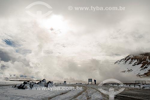Áreas de erupção próximo à região do Vulcão Krafla  - Northeastern Region - Islândia
