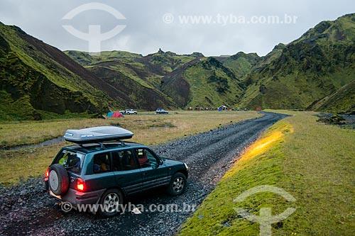 Acampamento na região da vila Vík í Mýrdal  - Southern Region - Islândia