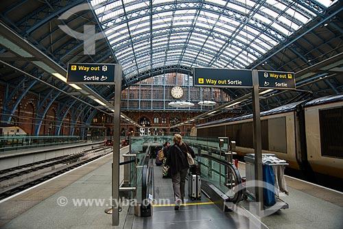 Interior da Estação Ferroviária Saint Pancras (1868) - também conhecida como St Pancras International  - Londres - Grande Londres - Inglaterra