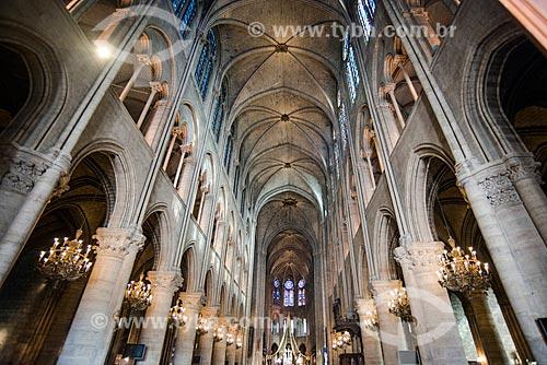 Interior da Catedral de Notre-Dame de Paris (1163)  - Paris - Paris - França
