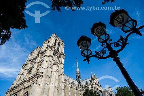 Fachada da Catedral de Notre-Dame de Paris (1163)  - Paris - Paris - França