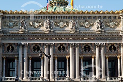 Detalhe da fachada do Palais Garnier (Ópera Garnier) - 1875  - Paris - Paris - França