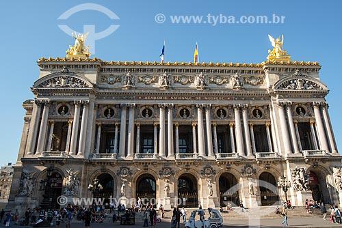 Fachada do Palais Garnier (Ópera Garnier) - 1875  - Paris - Paris - França