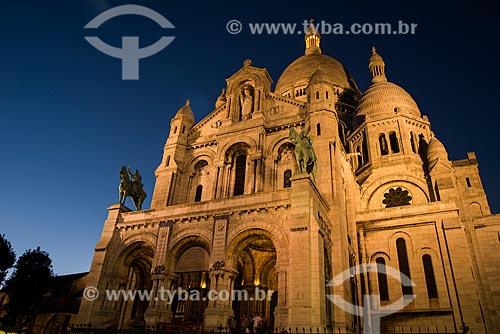 Fachada da Basilique du Sacré-Coeur (Basílica do Sagrado Coração) - 1914  - Paris - Paris - França