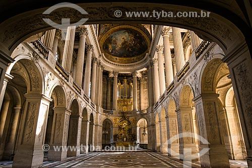 Capela no interior do Château de Versailles (Palácio de Versalhes) - residência oficial da monarquia da Francesa entre os anos de 1682 a 1789  - Versalhes - Yvelines - França