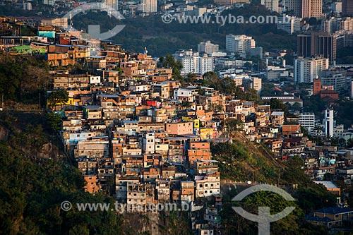 Vista da Morro dos Prazeres a partir do Mirante Dona Marta  - Rio de Janeiro - Rio de Janeiro (RJ) - Brasil