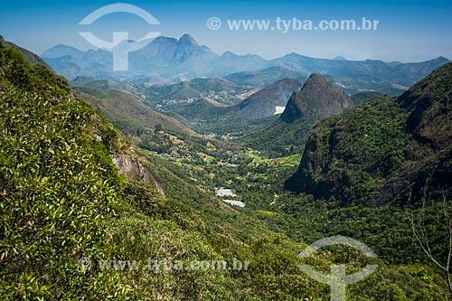 Vista do Vale do Bonfim durante a trilha do Morro do Açu  - Petrópolis - Rio de Janeiro (RJ) - Brasil