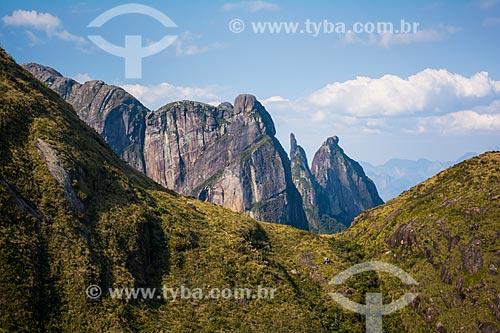 Vista da Agulha do Diabo a partir do mirante conhecido como Portais de Hércules  - Petrópolis - Rio de Janeiro (RJ) - Brasil
