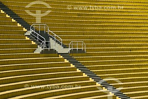Arquibancada do Estádio Municipal Paulo Machado de Carvalho (1940) - também conhecido como Estádio do Pacaembú  - São Paulo - São Paulo (SP) - Brasil