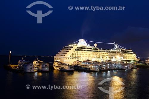 Navio de Cruzeiro MS Regatta no Porto de Manaus  - Manaus - Amazonas (AM) - Brasil