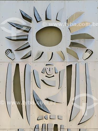 Detalhe de painel no Palácio Farroupilha - sede da Assembléia Legislativa do Estado do Rio Grande do Sul  - Porto Alegre - Rio Grande do Sul (RS) - Brasil