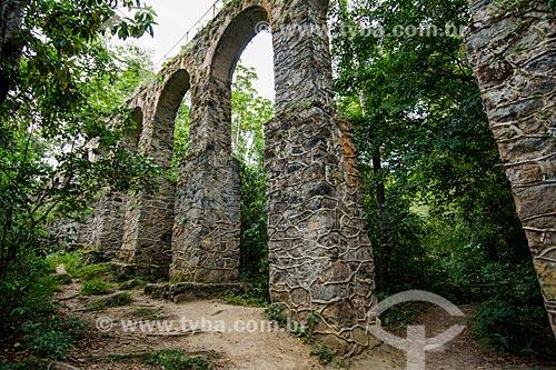 Aqueduto do Lazareto próximo à Vila do Abraão  - Angra dos Reis - Rio de Janeiro (RJ) - Brasil