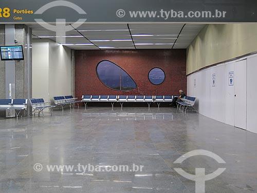 Sala de embarque do Aeroporto Internacional Antônio Carlos Jobim  - Rio de Janeiro - Rio de Janeiro (RJ) - Brasil