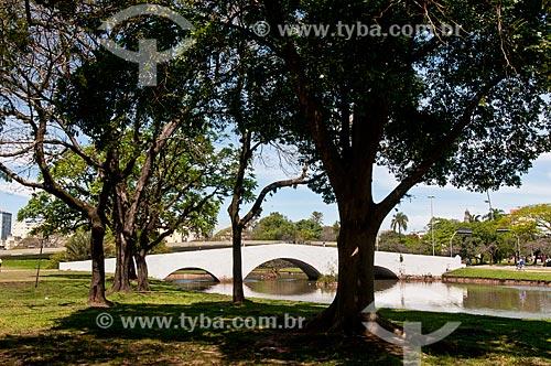 Vista da Ponte de Pedra (1843) - também conhecida como Ponte dos Açores  - Porto Alegre - Rio Grande do Sul (RS) - Brasil