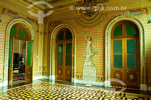 Interior do Salão Egípcio da Biblioteca Pública do Estado do Rio Grande do Sul (1915)  - Porto Alegre - Rio Grande do Sul (RS) - Brasil