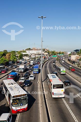 Transito na Avenida Brasil próximo à passarela 22  - Rio de Janeiro - Rio de Janeiro (RJ) - Brasil