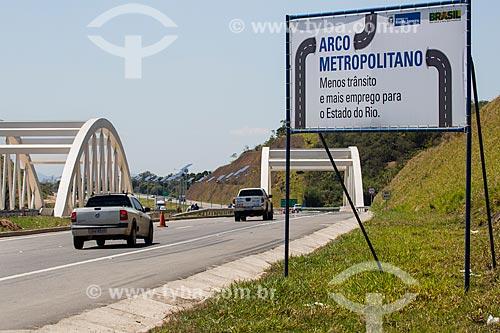 Placa no trecho do Arco Metropolitano próximo à Duque de Caxias  - Duque de Caxias - Rio de Janeiro (RJ) - Brasil