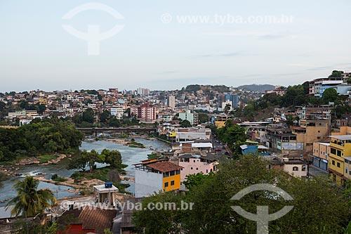 Vista geral da cidade de Cachoeiro de Itapemirim com o Rio Itapemirim  - Cachoeiro de Itapemirim - Espírito Santo (ES) - Brasil