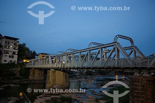 Ponte de Ferro Demisthóclides Baptista sobre o Rio Itapemirim  - Cachoeiro de Itapemirim - Espírito Santo (ES) - Brasil