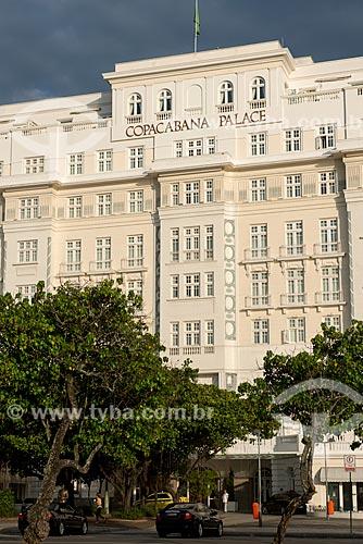 Fachada do Hotel Copacabana Palace (1923)  - Rio de Janeiro - Rio de Janeiro (RJ) - Brasil