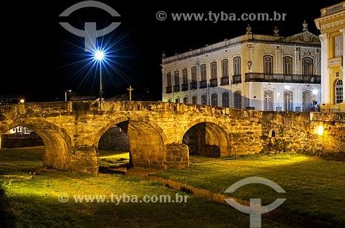 Ponte da Cadeia (1797) sobre o córrego do lenheiro  - São João del Rei - Minas Gerais (MG) - Brasil